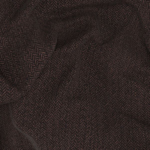 Blazer Brown Herringbone Wool Cotton