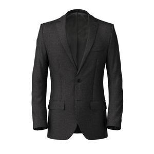 Jacket Blue Microdesign Cotton