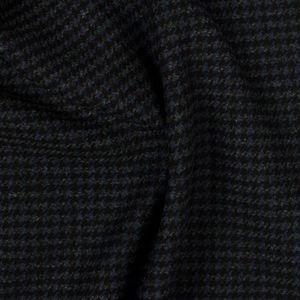 Coat Blue Houndstooth Wool Cashmere