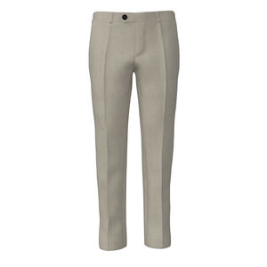 Pants Ivory Microdesign Wool Silk