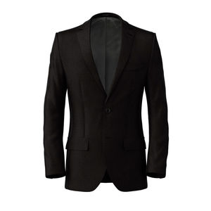Jacket Black Microdesign Wool Silk