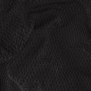 Pantalon Noir Microdesign Laine Soie