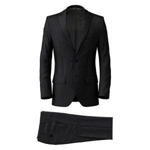 Suit Dark Blue Microdesign Wool Silk