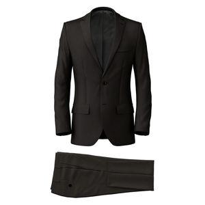 Suit Mahogany Wool Silk
