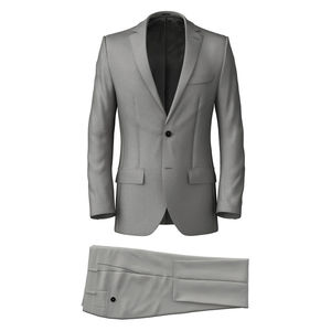 Suit Grey Wool Silk