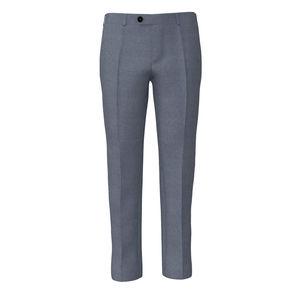Trousers Steel Blue Wool Silk