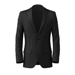 Blazer Black Classic Wool