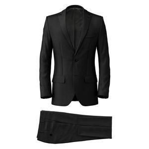 Suit Black Classic Wool