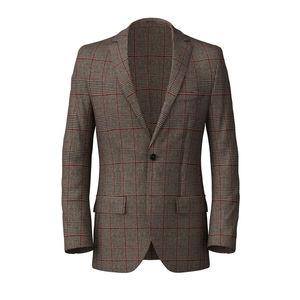Blazer Vintage Brown Wool Cashmere