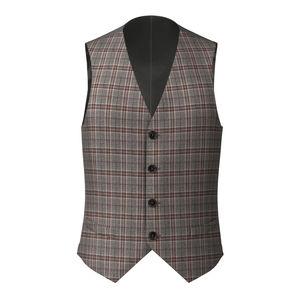 Waistcoat Grey Purple Check