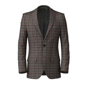 Jacket Grey Purple Check