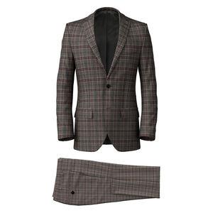 Suit Grey Purple Check
