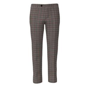 Trousers Grey Purple Check
