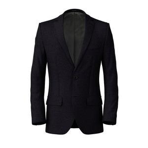Jacket Denim Blue Melange Cotton