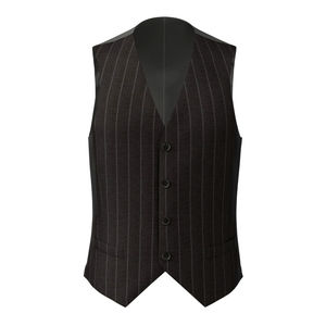 Waistcoat Grey Double Stripe