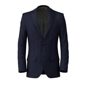 Jacke Blau Melange