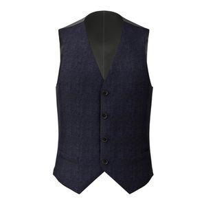 Waistcoat Navy Blue Melange