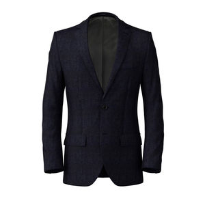 Jacket Navy Blue Melange