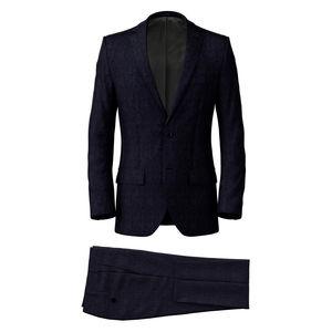 Suit Navy Blue Melange