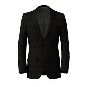 Jacket Grey Prince of Wales Wool Silk
