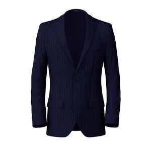 Blazer Miami Blue Pinstripe