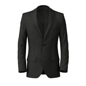 Jacket Grey Blue Stripe